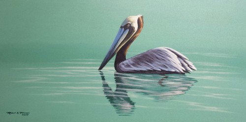 Pelican in Green